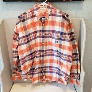 Cinch Western Shirt Orange Plaid size M